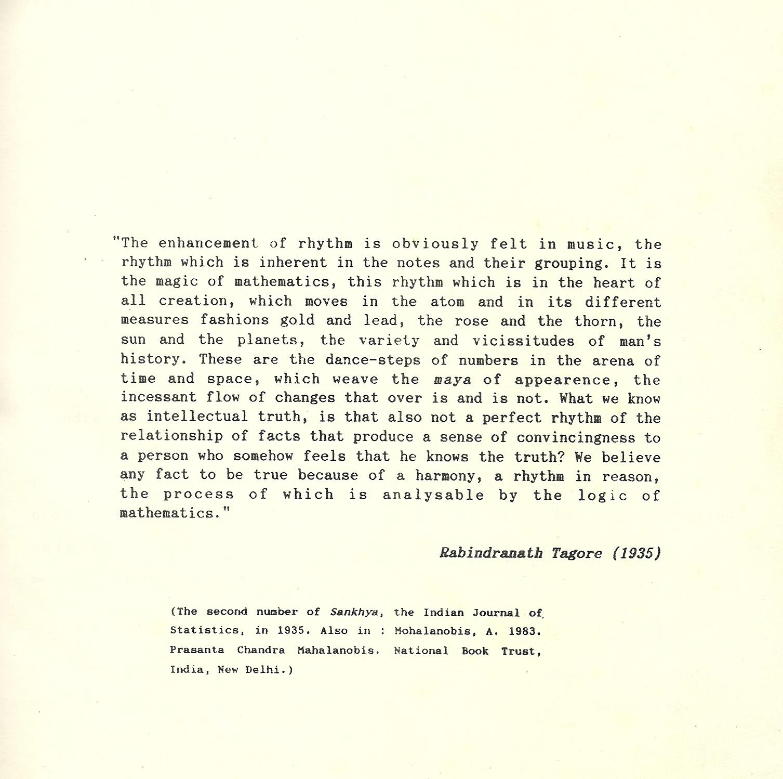 The Enhancement of Rhythm - Rabindranath Tagore